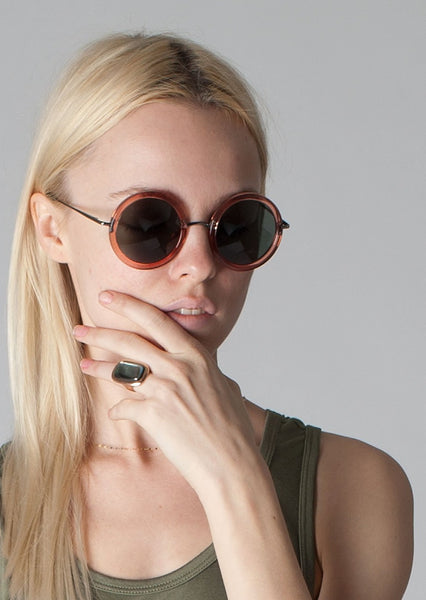 THE ROW : '8' ROUND ACETATE SUNGLASSES, ROSE $485 (SOLD OUT)