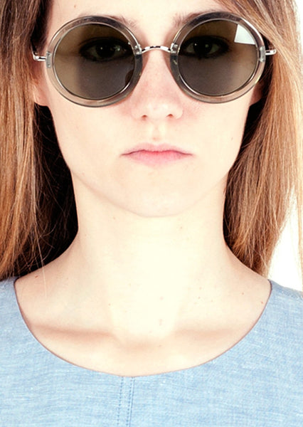 THE ROW : '8' ROUND ACETATE SUNGLASSES, SEAFORM $485 (SOLD OUT)