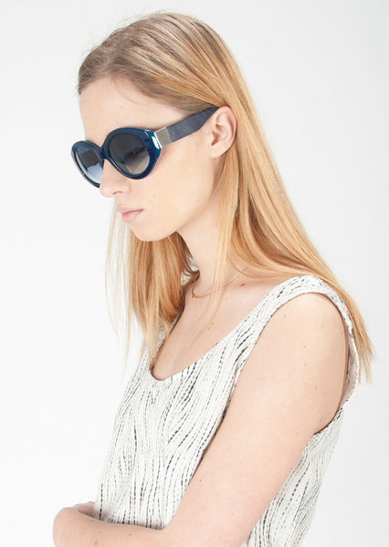 THE ROW : OVAL ACETATE SUNGLASSES, BLUE $445 (SOLD OUT)