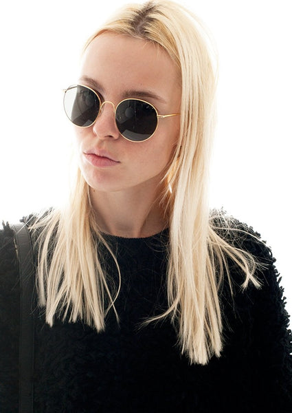 THE ROW : ROUND METAL SUNGLASSES, GOLD $445 (SOLD OUT)