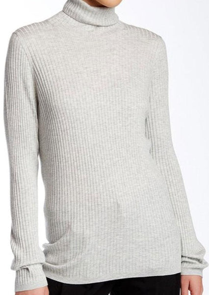 VINCE. : CASHMERE BLEND TURTLE NECK SWEATER, GREY $245