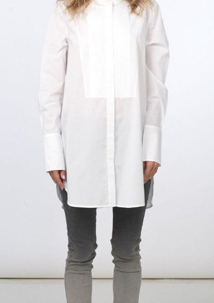 VINCE. : COTTON TUNIC SHIRT, WHITE $245 (SOLD OUT)