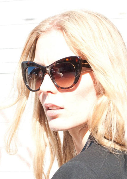 STELLA McCARTNEY : CAT EYE SUNGLASSES, BROWN TORTOISE $275 (SOLD OUT)