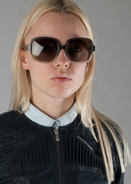 STELLA McCARTNEY : OMBRE ACETATE SQUARE SUNGLASSES, GREY $275 (SOLD OUT)