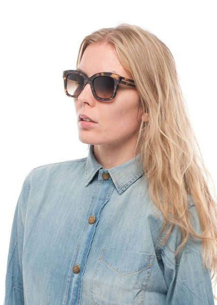 STELLA McCARTNEY : ACETATE SUNGLASSES, MATTE TORTOISE $275 (SOLD OUT)