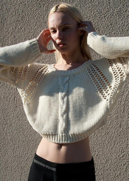 TWELFTH STREET BY CYNTHIA VINCENT : CHUNKY SWEATER, IVORY $250