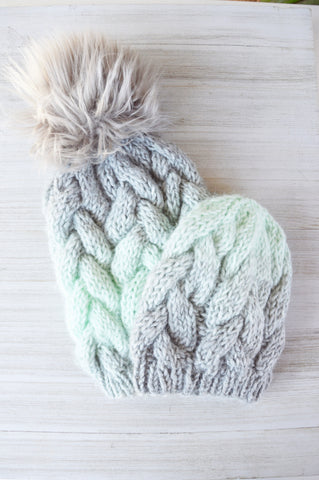 Mint & Grey BCB Knit Beanie