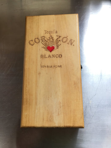 Tequila Corazon Wooden Gift Box