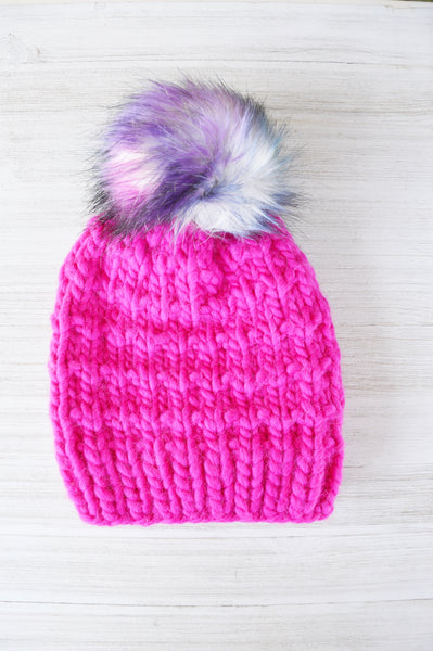 Punk Pink Sophie Luxury Knit Beanie