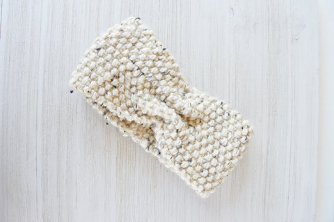 Oatmeal Knit Headband
