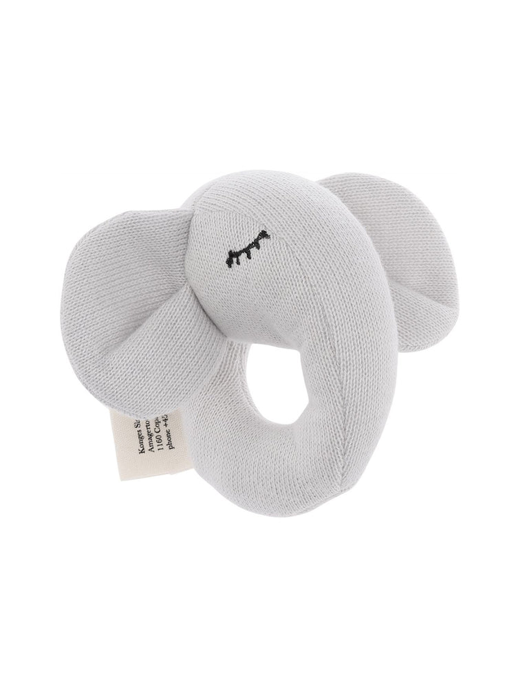 KONGES SLOJD Quro Mini Elephant Rattle