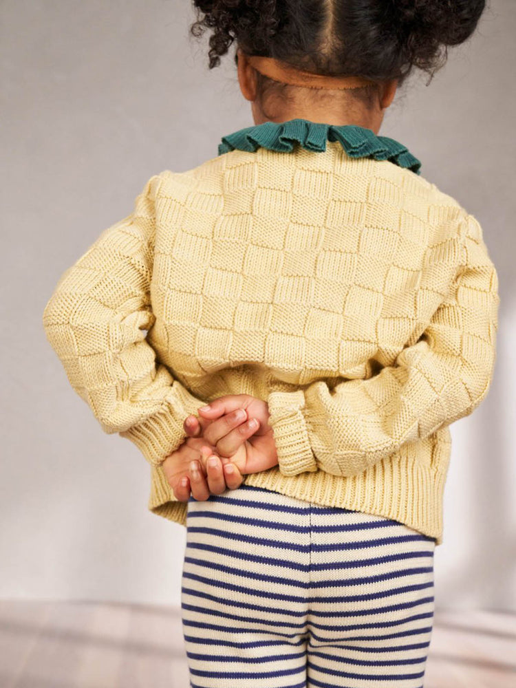 Load image into Gallery viewer, MISHA & PUFF Basketweave Cardigan - Straw