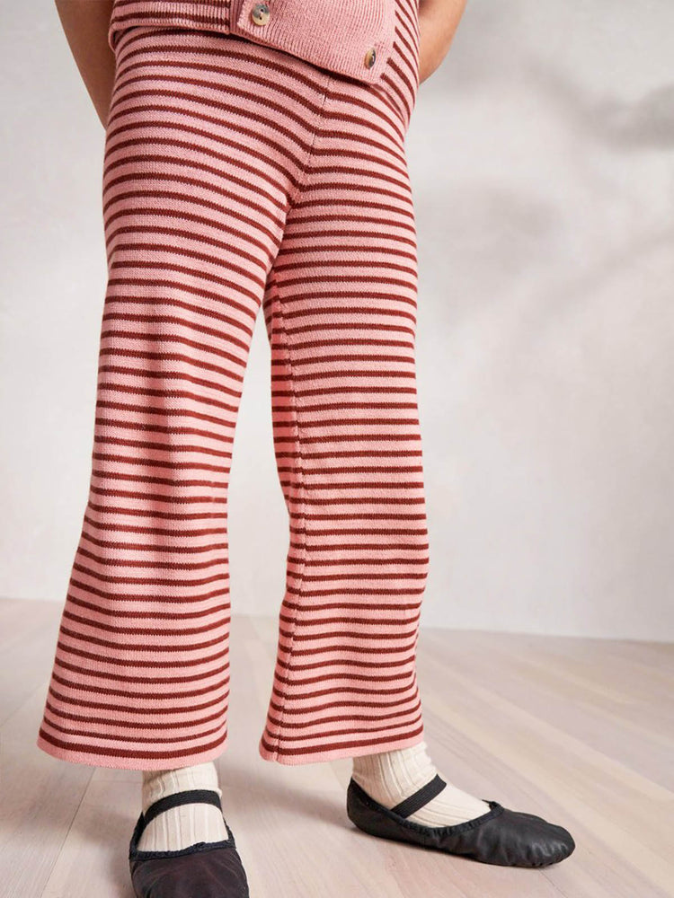 Load image into Gallery viewer, MISHA & PUFF Mini Stripe Bell Pant - Rose Blush