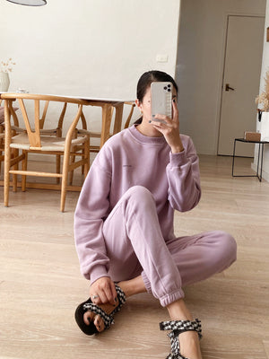 TINY TROVE Women Woodie Logo Tracksuit - Periwinkle