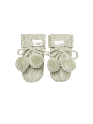 Load image into Gallery viewer, TOSHI Organic Baby Booties - Thyme