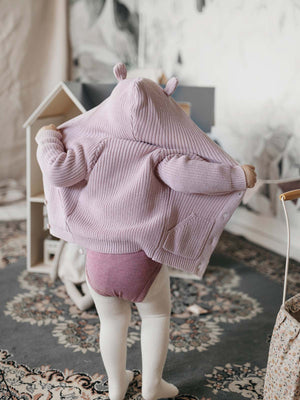 Load image into Gallery viewer, JAMIE KAY Bear Cardigan - Old Rose