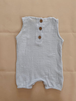 TINY TROVE Bowie Sleeveless Playsuit - Sky