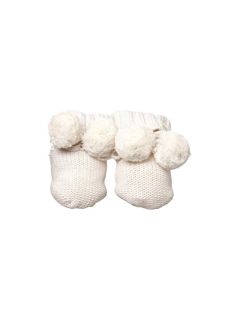 TOSHI Organic Baby Booties - Cream