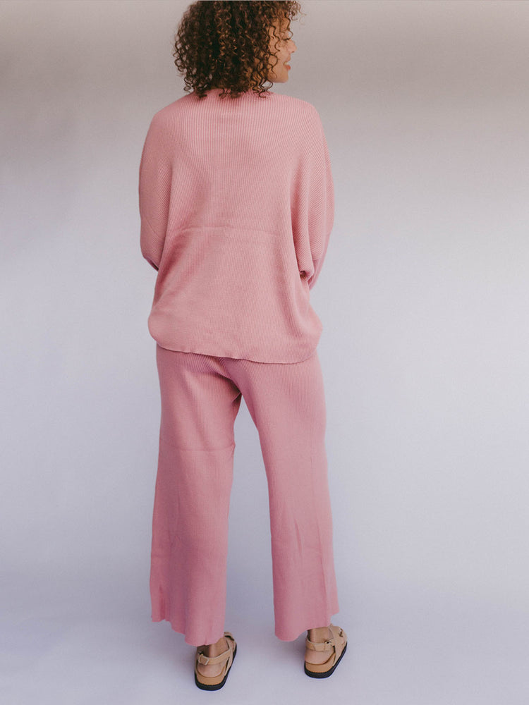THE LULLABY CLUB Alex Knit Sweater - Dusty Pink