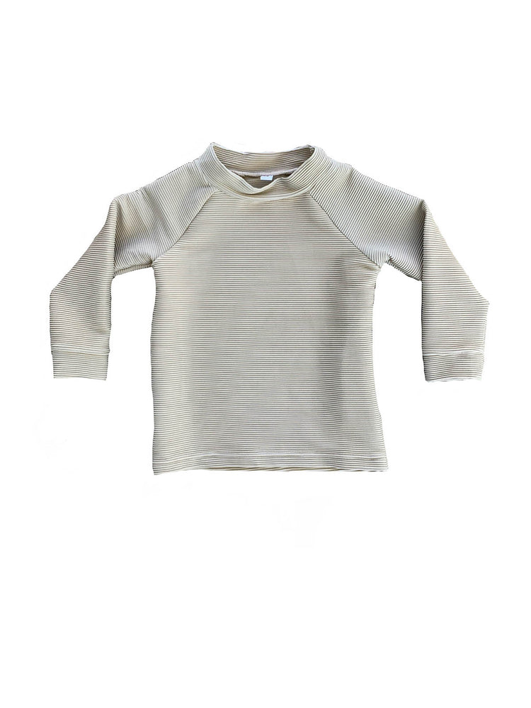 RUFFETS & CO Finley Rash Top - Ribbed Fawn