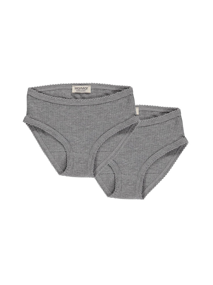 Load image into Gallery viewer, MARMAR COPENHAGEN Underwear 2-Pack - Grey Melange