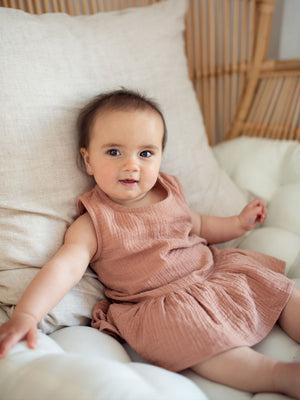 RUFFETS & CO Grace Romper - Clay
