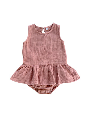 Load image into Gallery viewer, RUFFETS & CO Grace Romper - Clay
