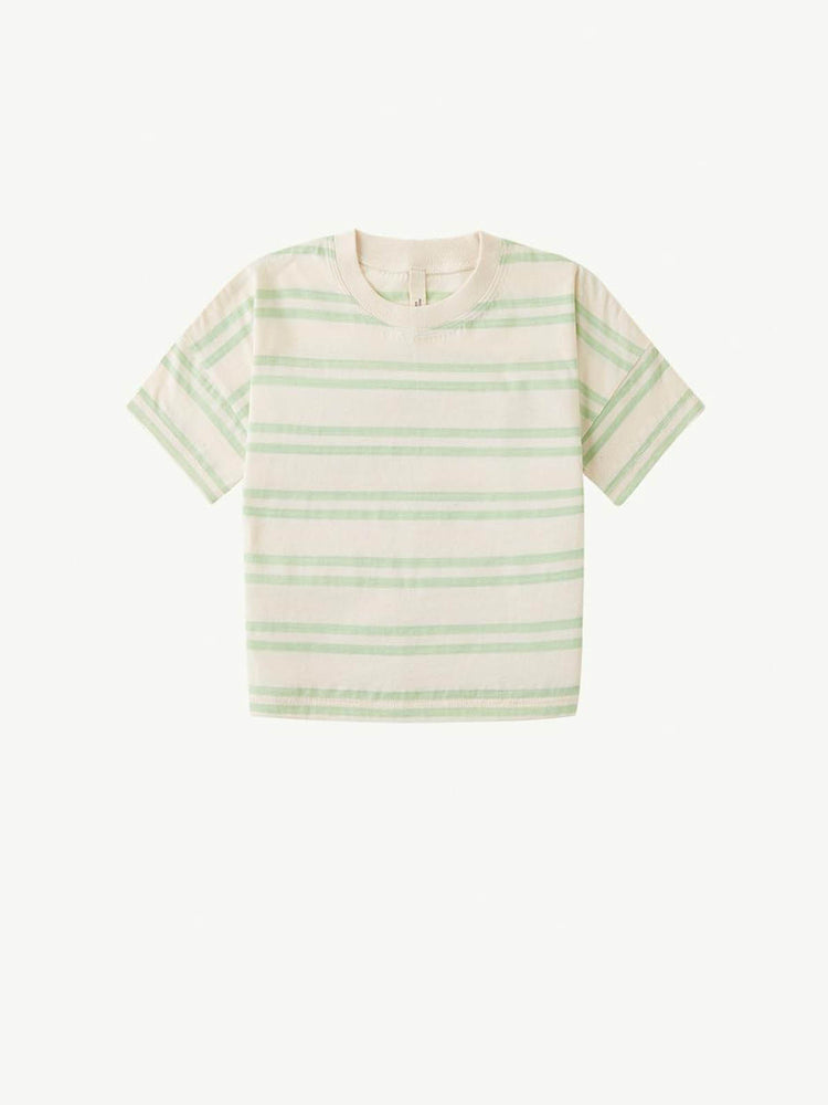 SUMMER AND STORM Oversized Tee - Double Stripe Pastel Green