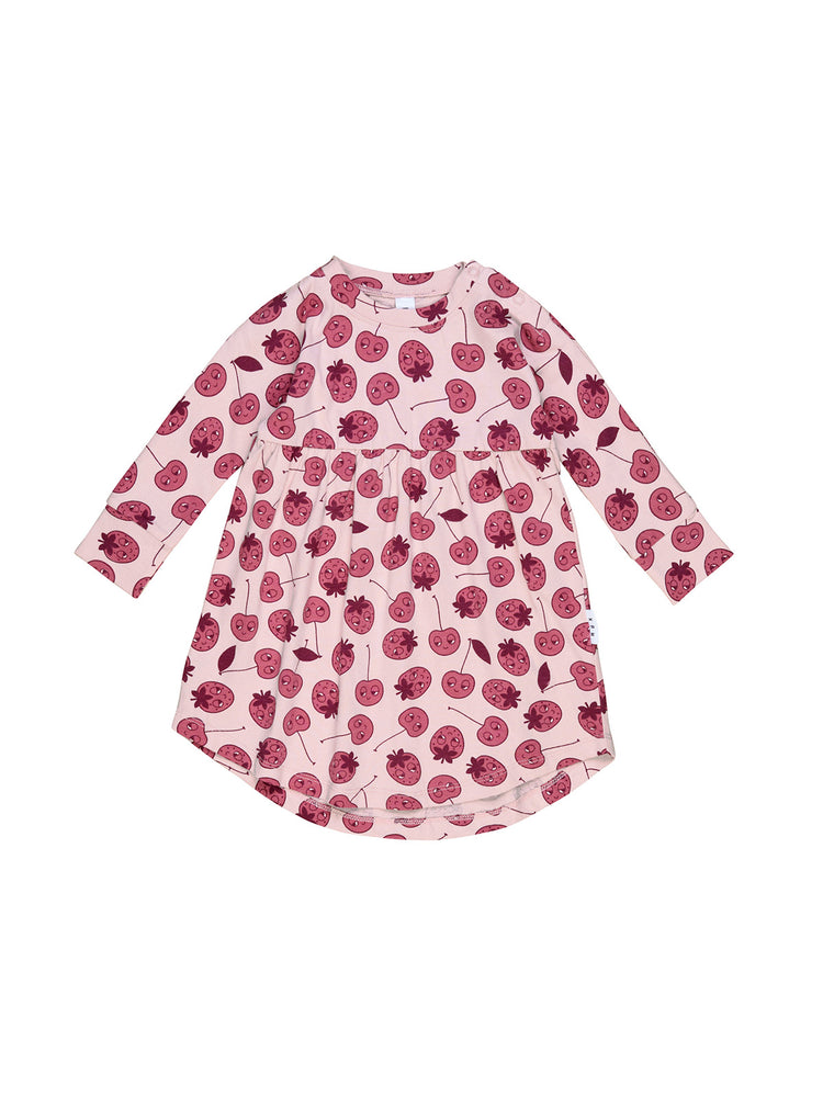 Load image into Gallery viewer, HUXBABY Long Sleeve Swirl Dress - Berry