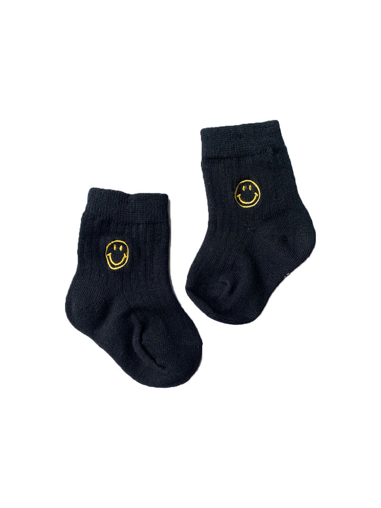 TINY TROVE Face Socks - Black