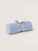 GARBO & FRIENDS Crochet Knit Blanket - Ice Blue
