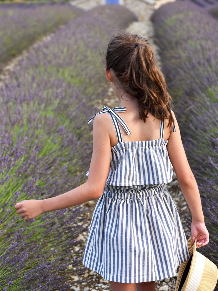 PETITE LUCETTE Iris Dress - Ocean Stripes