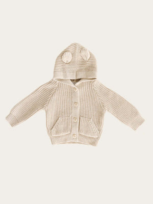Load image into Gallery viewer, JAMIE KAY Bear Cardigan - Oatmeal Marle
