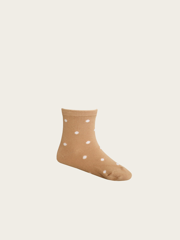 Load image into Gallery viewer, JAMIE KAY Dotty Sock - Sandy