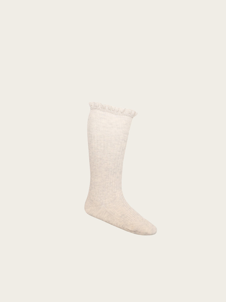 Load image into Gallery viewer, JAMIE KAY Frill Sock - Oatmeal