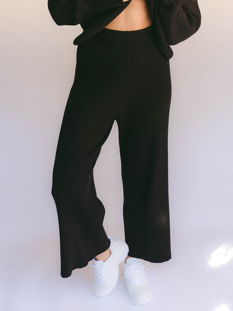 Load image into Gallery viewer, THE LULLABY CLUB Alex Knit Pant - Jett