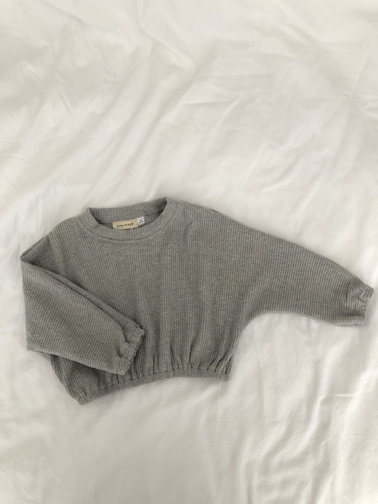 Load image into Gallery viewer, TINY TROVE Jett Pullover - Grey