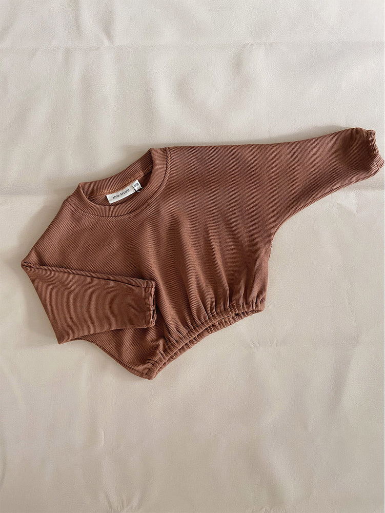 Load image into Gallery viewer, TINY TROVE Jett Pullover - Chestnut