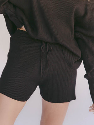 THE LULLABY CLUB Alex Knit Shorts - Jett