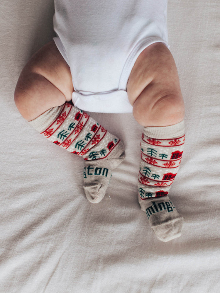 Load image into Gallery viewer, LAMINGTON Jingle Knee High Sock - Babies