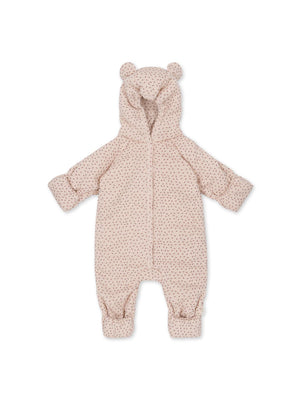 KONGES SLOJD Newborn Onesie with Hood Deux - Tiny Clover Rose