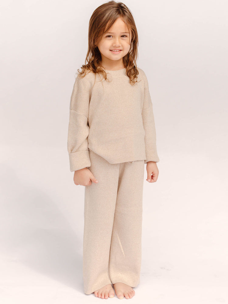 THE LULLABY CLUB Mini Alex Knit Set - Sand