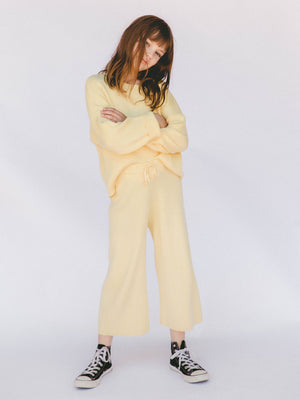 THE LULLABY CLUB Mini Alex Knit Set - Lemon