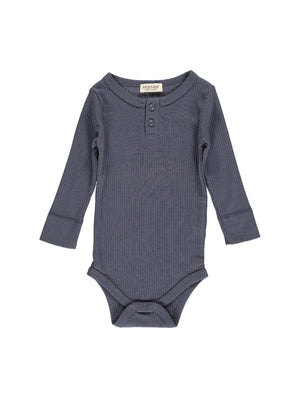 Load image into Gallery viewer, MARMAR COPENHAGEN Long Sleeve Bodysuit - Blue