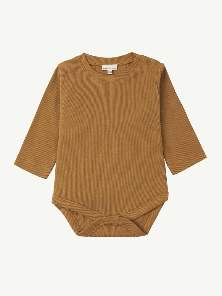 Load image into Gallery viewer, SUMMER AND STORM Bodysuit Long Sleeve - Mustard