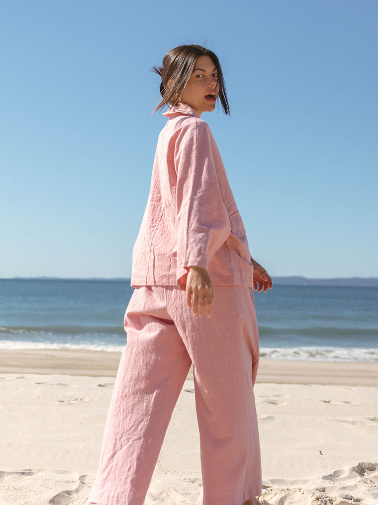 THE LULLABY CLUB Womens Lounge Pant - Dusty Pink