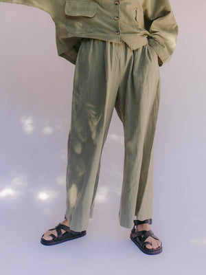 THE LULLABY CLUB Womens Lounge Pant - Olive