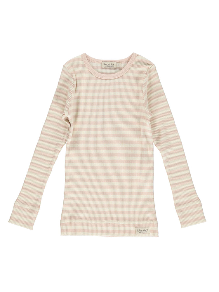 Load image into Gallery viewer, MARMAR COPENHAGEN Long Sleeve Tee Stripe - Rose/Off White