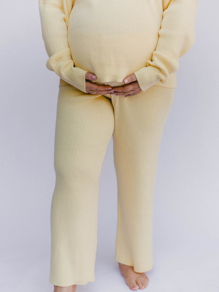 Load image into Gallery viewer, THE LULLABY CLUB Alex Knit Pant - Lemon