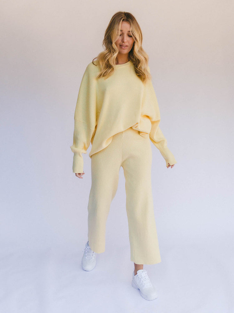 THE LULLABY CLUB Alex Knit Sweater - Lemon